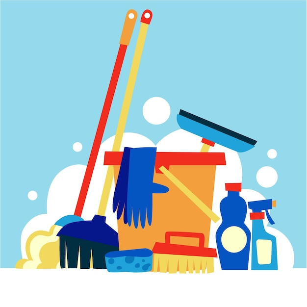 Surface cleaning equipment Premium Vector