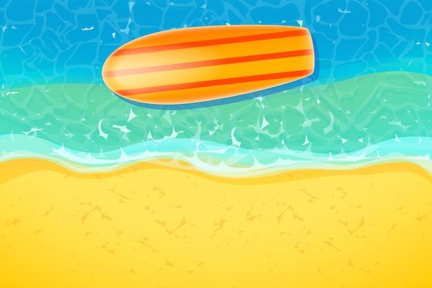 Доска для серфинга на пляже Premium векторы