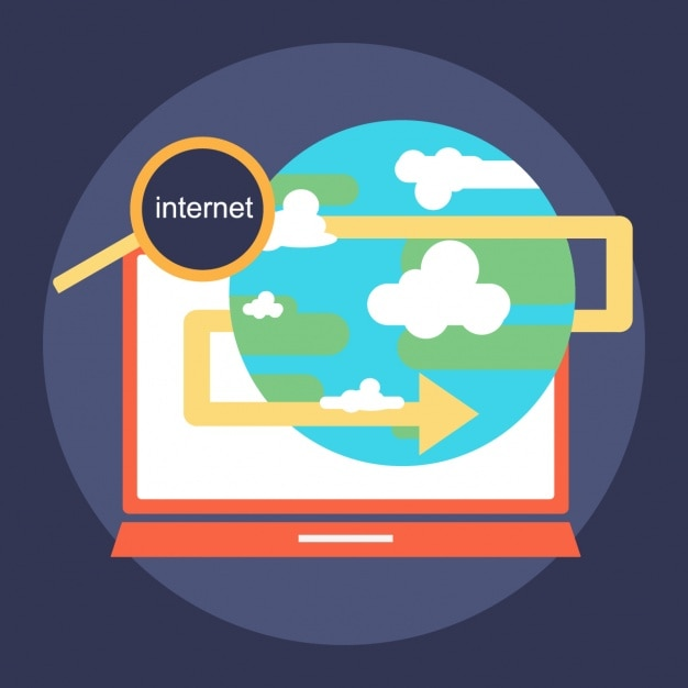 Surfing The Internet Vector Free Download