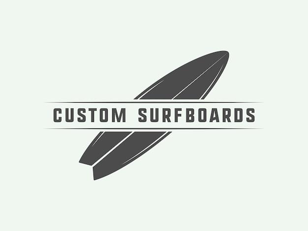 Surfing logo, emblem Premium Vector