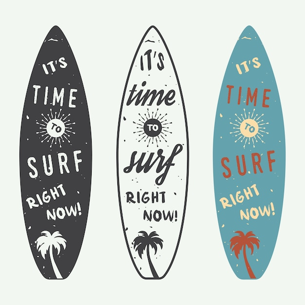Surfing logos Premium Vector