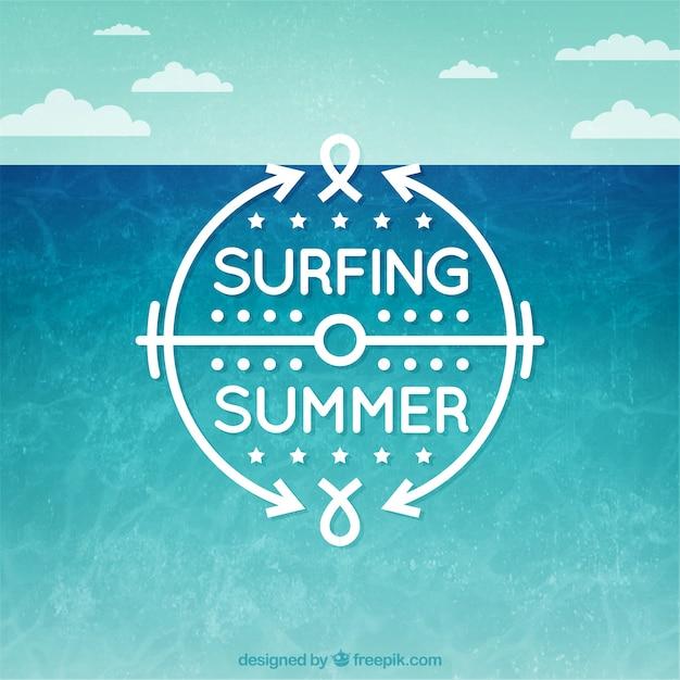 Surfing summer Premium Vector