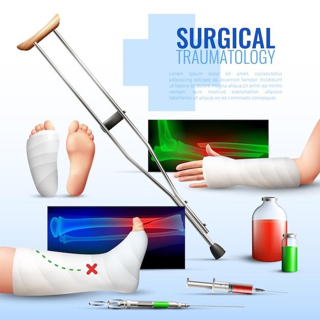 外科外傷のコンセプト 無料ベクター
