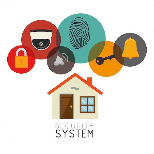Surveillance security system Premium Vector