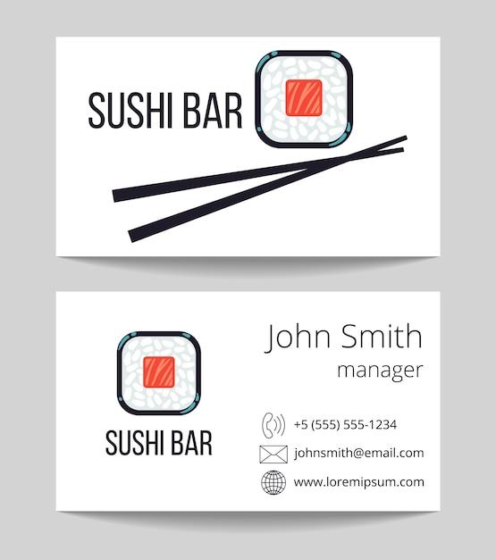 Sushi bar Premium Vector