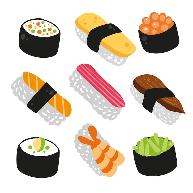 sushi icons collection vector free download rh freepik com sushi victoria bc sushi victoria texas
