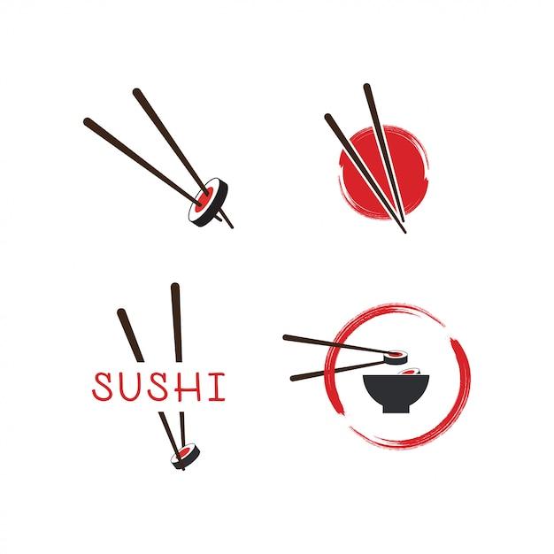 Sushi logo template Premium Vector