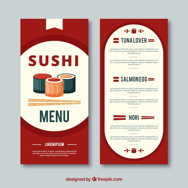 Sushi menu template in flat design vector free download sushi menu template in flat design free vector pronofoot35fo Gallery
