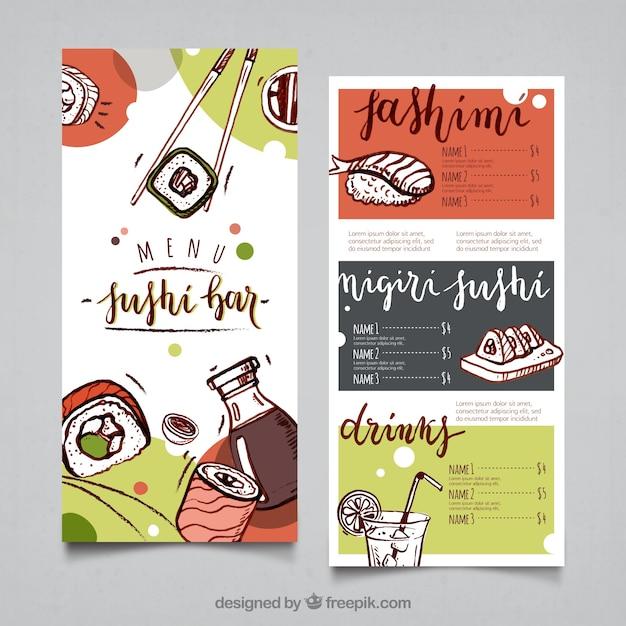 Sushi menu template vector free download sushi menu template free vector pronofoot35fo Gallery