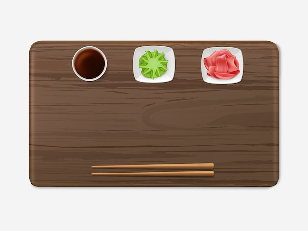 寿司の調味料セット日本料理 無料ベクター
