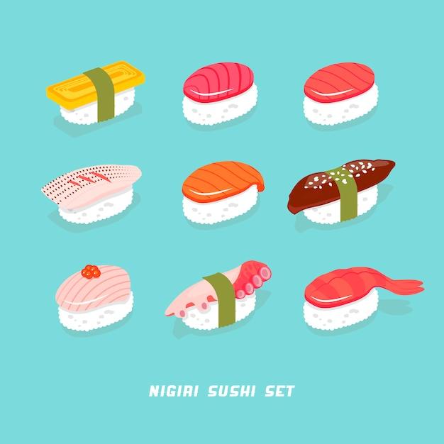 Sushi Premium Vector