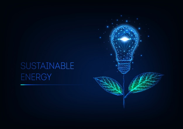 Sustainable energy concept Premium Vector