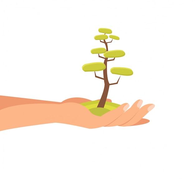 Sustainable environment flat vector illustration Premium Vector