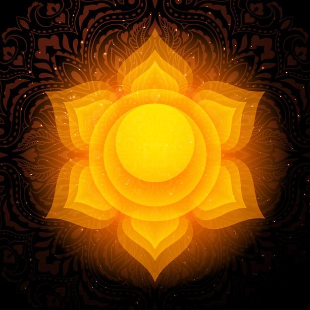 Swadhisthana chakra mandala. sacral chakra. Premium Vector