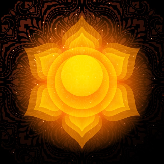 Свадхистхана чакра мандала. сакральная чакра. Premium векторы