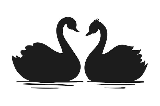 Иллюстрация лебедя Бесплатные векторы