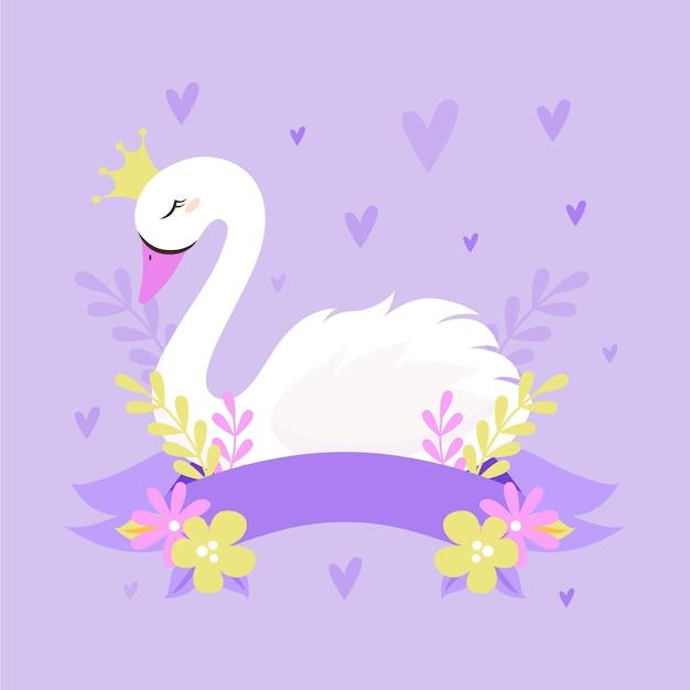 白鳥姫のコンセプト 無料ベクター