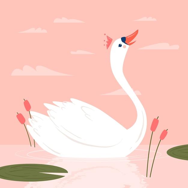 Swan princess concept Free Vector