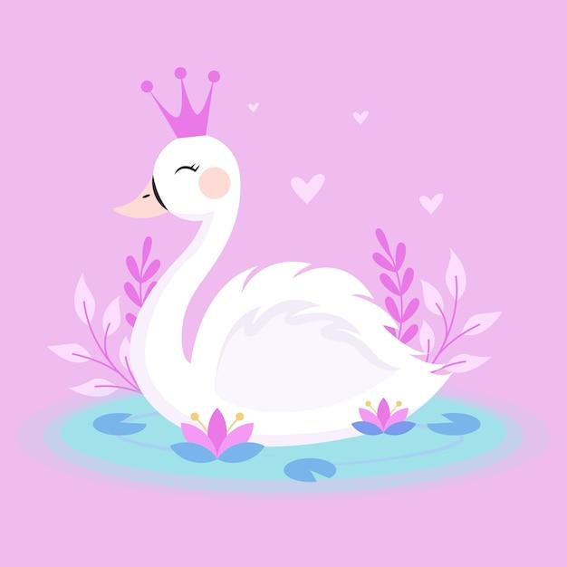 Swan princess theme Free Vector