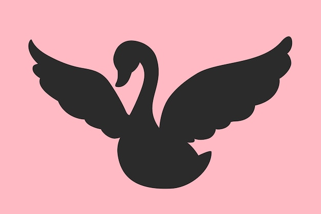 Swan silhouette concept Free Vector