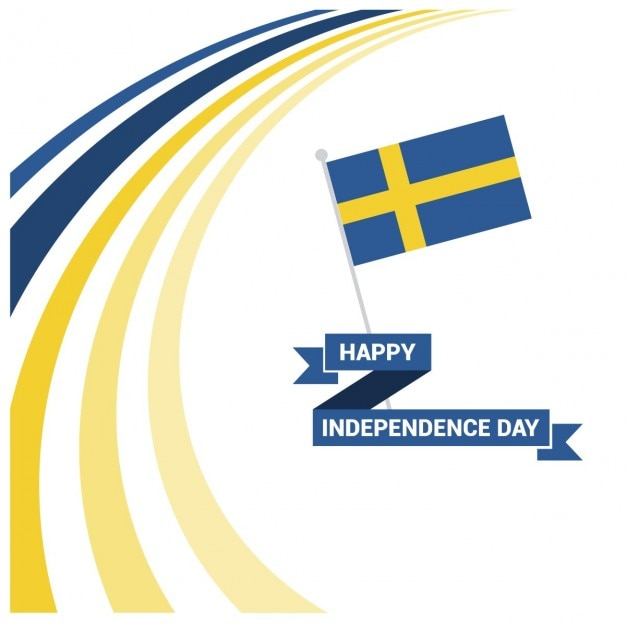 Sweden independence day Free Vector
