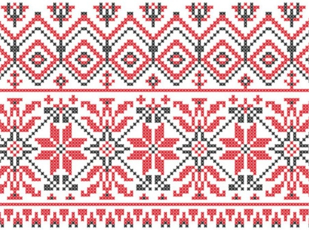 Swedish knitting patterns background vector set Vector | Free Download