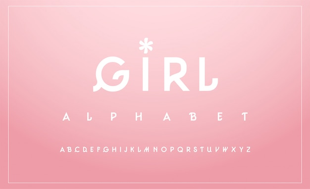 Sweet alphabet uppercase font. typography classic Premium Vector