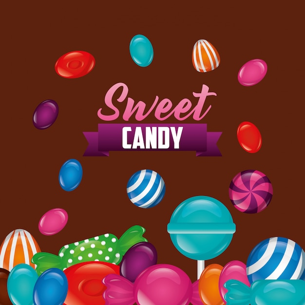 Sweet candy background Free Vector