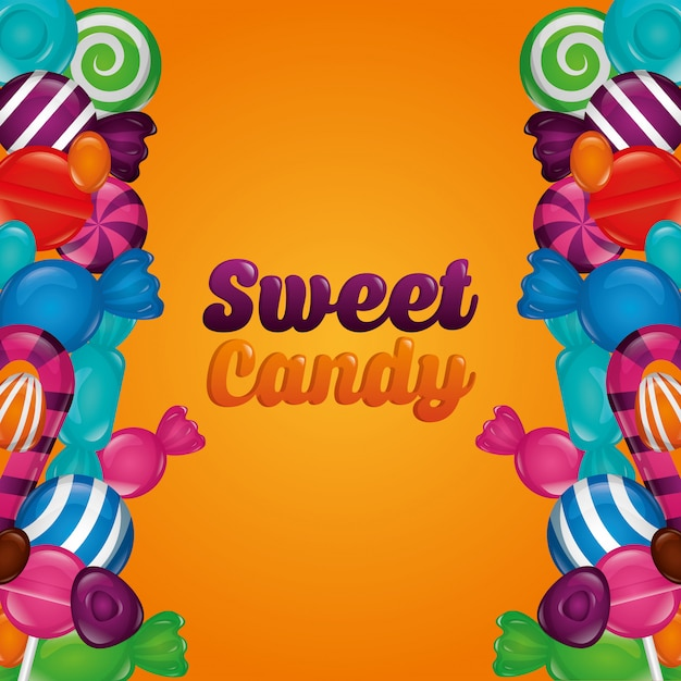 Sweet candy pack Free Vector