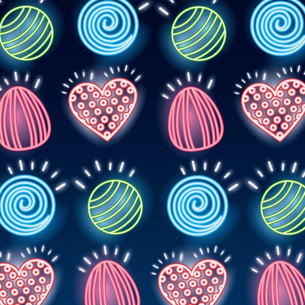 Sweet candy seamless pattern Free Vector
