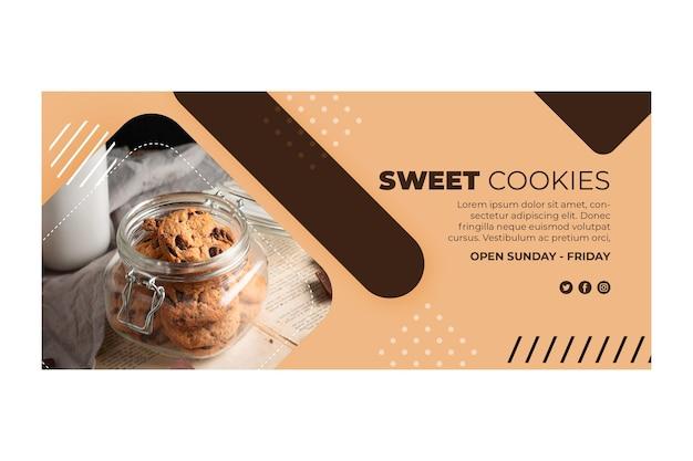 Концепция баннера сладкого печенья Бесплатные векторы