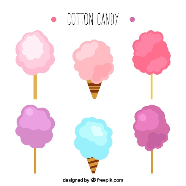 Cotton Candy Sign: Sweet Cotton Candy Collection Vector