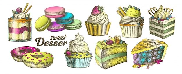 Sweet dessert Premium Vector