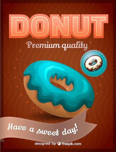Sweet donut vector Free Vector