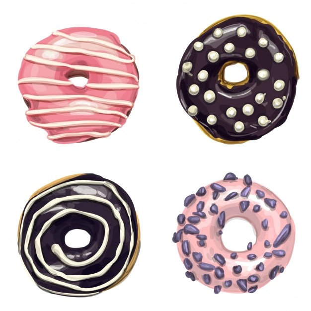 Sweet donuts Free Vector