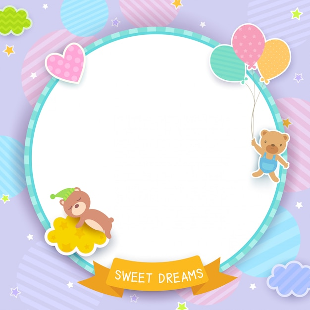 Sweet dreams pupple Premium Vector