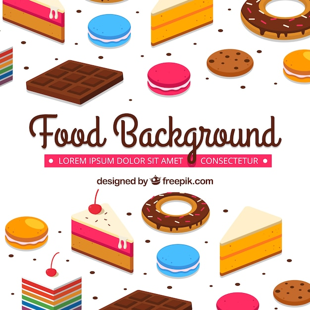 Sweet food background Free Vector