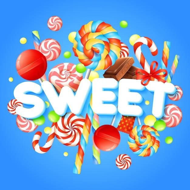 Sweet realistic illustration Free Vector
