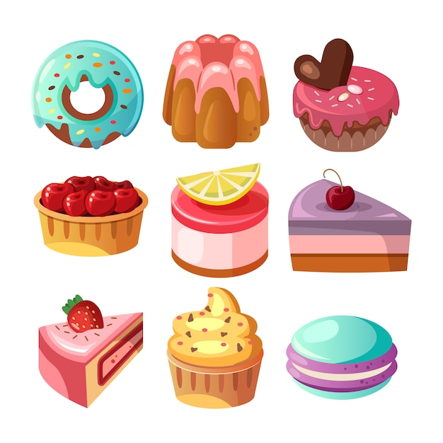 Sweet shop background illustration Free Vector