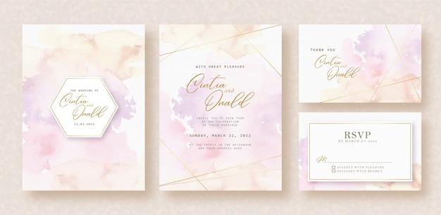甘いスプラッシュ色の招待カードの背景 Premiumベクター
