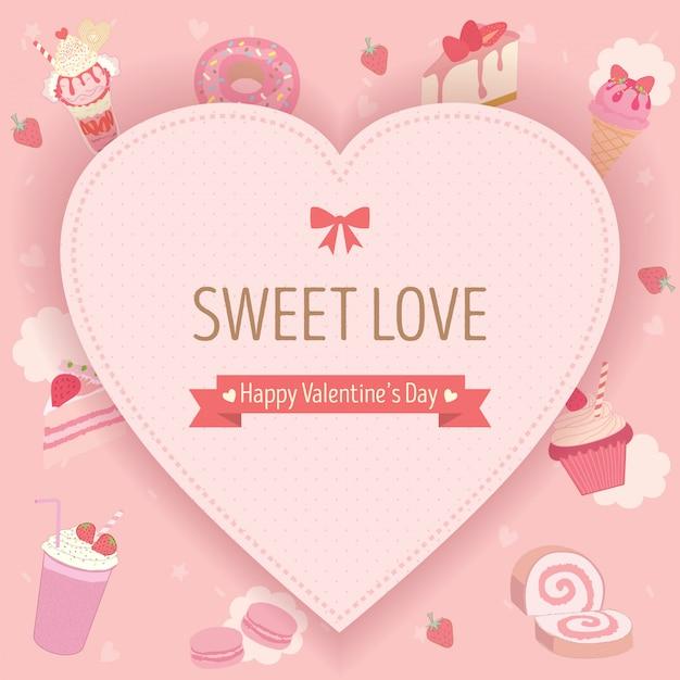 Sweet valentines day Premium Vector