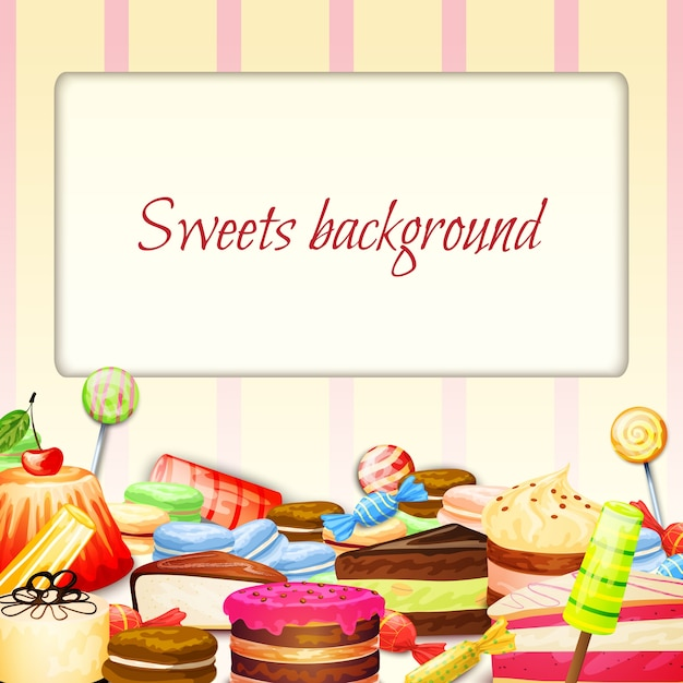 Sweets Food Background Vector