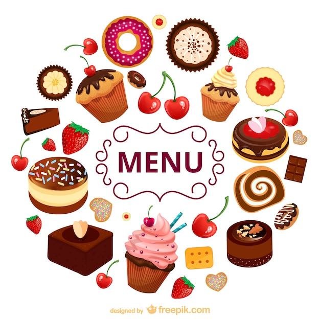Dessert vectors photos and psd files free download - Dessert dessin ...