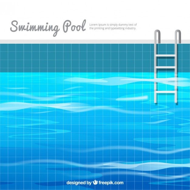Swimming pool background in flat design Vector | Free Download