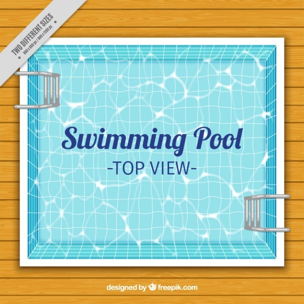 Swimming Pool On A Wooden Floor Background Free Vector