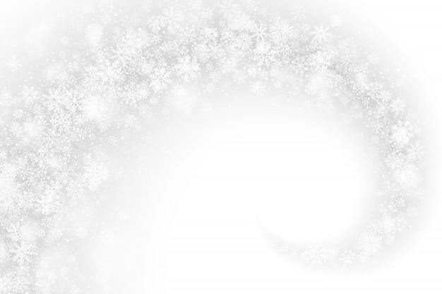Swirling snow effect white abstract background Premium Vector