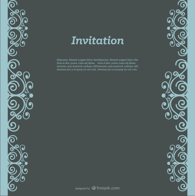 Swirly Invitation Design Free Vector