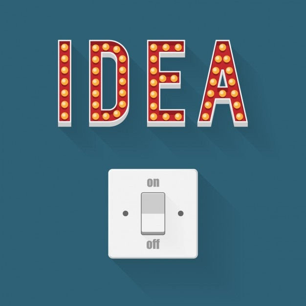 Switch for ideas Free Vector