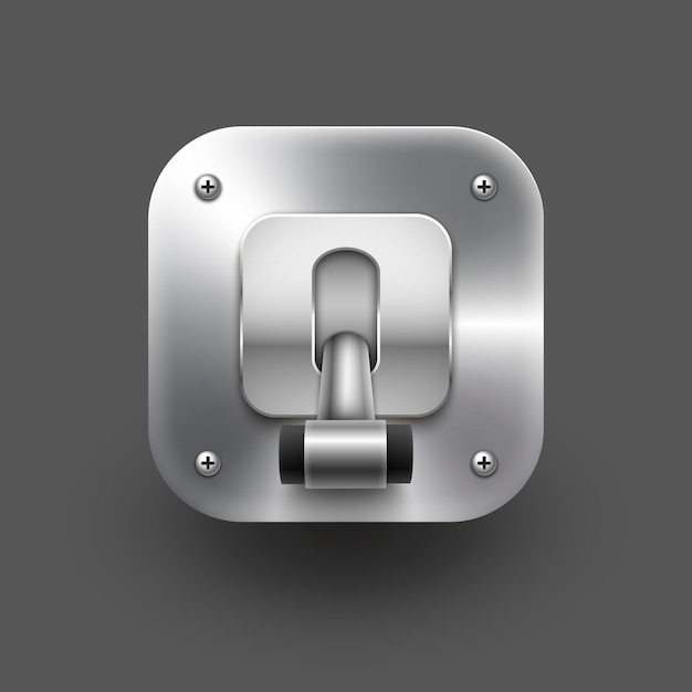 Switch illustration isolated on grey Premium Vector