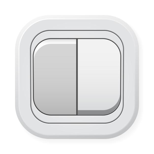 白の分離スイッチ Premiumベクター